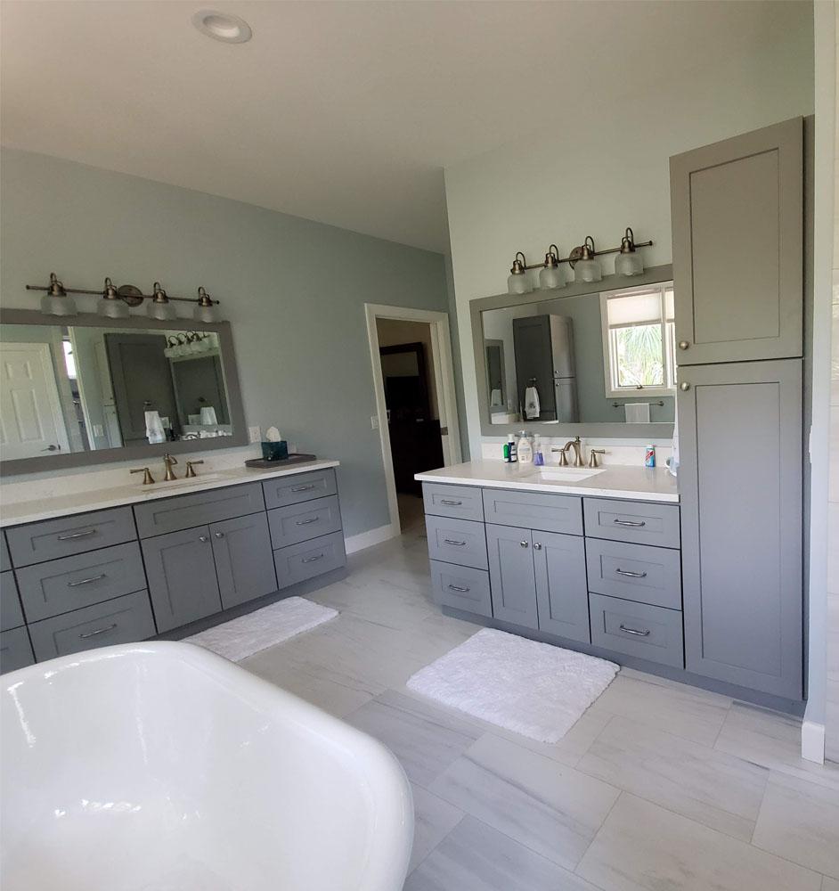 Heath Court Bathroom Remodel Cabinetry